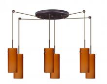 Besa Lighting 6JC-412380A-BR - Six Light Bronze Island Light