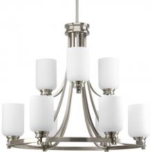 Progress P4663-09 - 9-Lt. (6+3) Brushed Nickel Chandelier