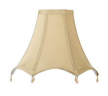 CAL Lighting SH-1097 - STRETCHED BELL FABRIC SHADE W/BEADS