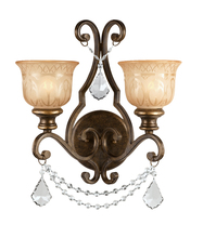 Crystorama 7502-BU-CL-MWP - Crystorama Norwalk 2 Light Clear Crystal Bronze Umber Sconce