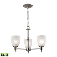 Thomas 1303CH/20-LED - Jackson 3 Light LED Chandelier In Brushed Nickel