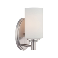 Thomas 190023217 - One-light bath fixture in Brushed Nickel finish with etched glass.