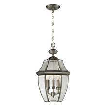 Thomas 8603EH/80 - Ashford 3 Light Outdoor Pendant In Antique Nicke