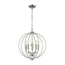 Thomas CN15752 - Williamsport 5 Light Chandelier In Brushed Nicke