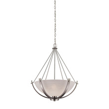 Thomas CN170342 - Casual Mission 3 Light Chandelier In Brushed Nic