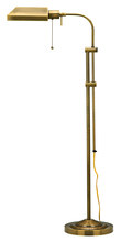 "CAL Lighting BO-117FL-AB - 62"" Height Metal Floor Lamp In Antique Brass"