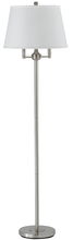 "CAL Lighting BO-2077-6WY-BS - 62"" Height Metal Floor Lamp In Brushed Steel"