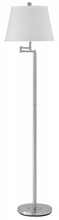 "CAL Lighting BO-2077SWFL-BS - 60"" Height Metal Floor Lamp In Brushed Steel"