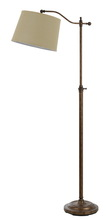 "CAL Lighting BO-2205FL-RU - 62.5"" Height Metal Floor Lamp In Rust"