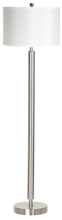 "CAL Lighting LA-2004FL-1BS - 60"" Tall Metal Floor Lamp In Brushed Steel"