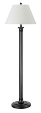 "CAL Lighting LA-60007FL-1 - 59.5"" Metal Floor Lamp In Dark Bronze Finish"