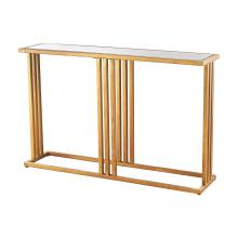 Dimond 1114-200 - Andy Console In Gold Leaf And Clear Mirror