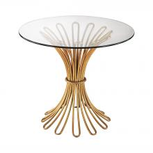 Dimond 1114-204 - Flaired Rope Side Table In Gold Leaf And Clear G