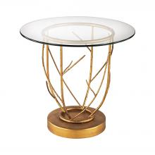 Dimond 1114-206 - Thicket Side Table In Gold Leaf And Clear Glass