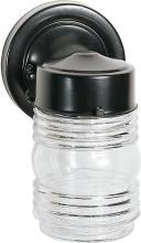 "Nuvo 77/119 - 1 Light - 6"" - Porch, Wall - Mason Jar w/Clear Glass"