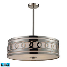 ELK Lighting 10125/5-LED - Zarah 5 Light LED Pendant In Polished Nickel