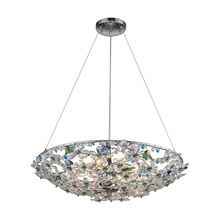 ELK Lighting 11131/8 - Crystallus 8 Light Chandelier In Polished Chrome