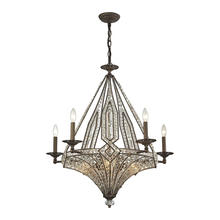 ELK Lighting 11785/5+5 - Jausten 10 Light Chandelier In Antique Bronze