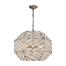ELK Lighting 11837/8 - Constructs 8 Light Chandelier In Weathered Zinc