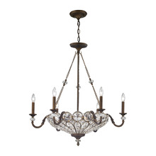ELK Lighting 12033/6+3 - Christina 9 Light Chandelier In Mocha