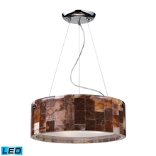 ELK Lighting 19095/3-LED - Three Light Polished Chrome Drum Shade Pendant