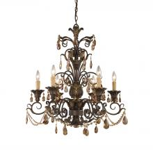 ELK Lighting 3344/6 - Rochelle 6 Light Chandelier In Weathered Mahogan