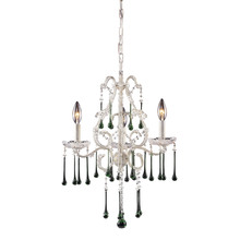 ELK Lighting 4001/3LM - Opulence 3 Light Chandelier In Antique White And