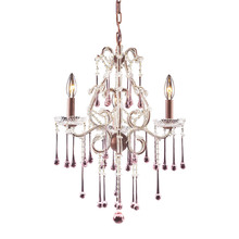 ELK Lighting 4011/3RS - Opulence 3 Light Chandelier In Rust And Rose Cry