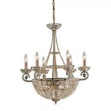 ELK Lighting 5967/6+4 - Elizabethan 10 Light Chandelier In Dark Bronze