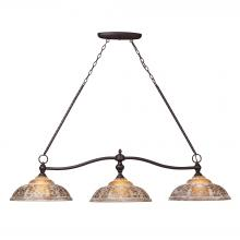 ELK Lighting 66195-3 - Norwich 3 Light Billiard In Oiled Bronze And Amb