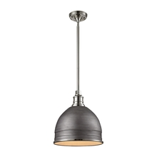 ELK Lighting 66882/1 - Carolton 1 Light Pendant In Weathered Zinc And P